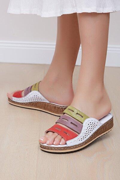 Shoes Time Kadın Beyaz Terlik 20y 806