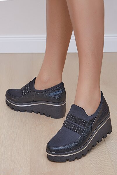 Shoes Time Kadın Siyah Günlük Ayakkabı 20y118