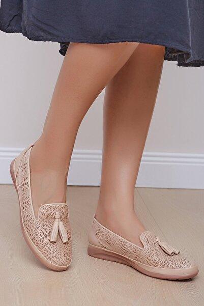 Shoes Time Kadın Bej Günlük Ayakkabı 20y 100