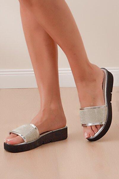 Shoes Time Kadın Gümüş Terlik 20y 823