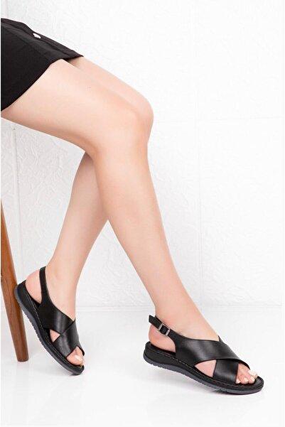 Bella Kadın Siyah Sandalet