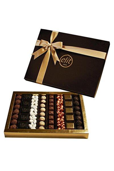 Elit Çikolata Karışık Spesiyal Çikolata Deri Grenli Kutu 786gr