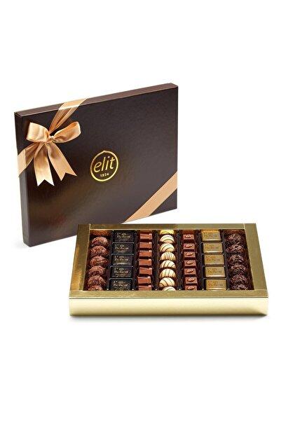 Elit Çikolata Karışık Spesiyal Çikolata Deri Grenli Kutu 568g