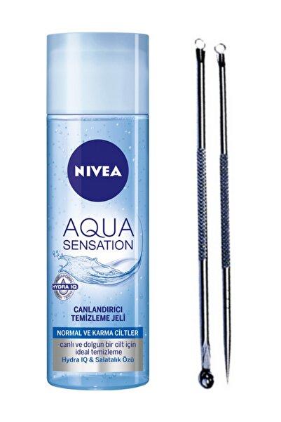 Nivea Aqua Sensation Canlandırıcı Yüz Yıkama Jeli 200 ml ve Akne Siyah Nokta Temizleyici Komedon