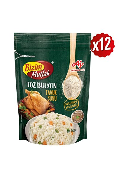 Bizim Mutfak Toz Tavuk Suyu Bulyon 150 Gr 12'Li Paket