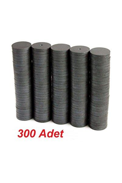 Dünya Magnet 300 Adet 14x3 Yuvarlak Ferrit Mıknatıs - Çok Amaçlı Süsleme Mıknatısı, Magnet,(300'lü paket)