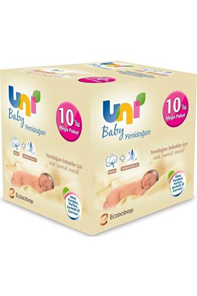 Uni Baby Islak Havlu Mendil Yeni Doğan 40 Yaprak 10 Lu Pk (Toplam 400 Yaprak)
