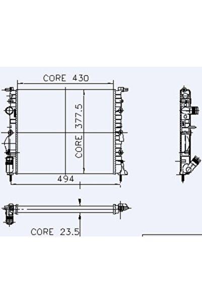 KALE Motor Radyator Clio Symbol Klimasiz ( 2 Sira Al+Pl )-700432227, 7702258282, 2140000Qaz,