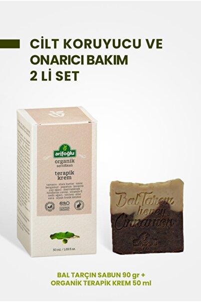 Arifoğlu Organik Terapik Krem 50 ml + Bal Tarçın Sabunu 90 gr 2 Li Set