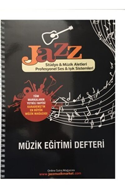 jazz Solfej Dersleri İçin Kalın Yapraklı Müzik Defteri
