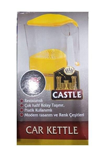 Çakmak Girişli Plastik Araç İçi Su Isıtıcı Oto Kettle  Castle 24 V 500 Ml