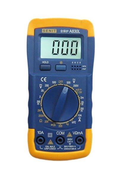 Tvet Dijital Multimetre Ölçü Aleti Buzzerli Voltmetre Ampermetre T38187