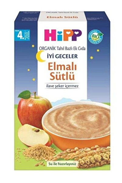 Hipp Unisex Organik Tahıl Bazlı Ek Gıda Organik Sütlü Elmalı 250 gr