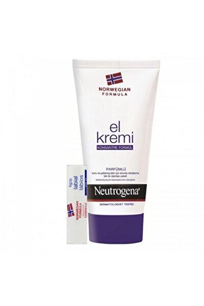 Neutrogena Kış Aşkı El Kremi Parfümlü + Dudak Kremi Hediye