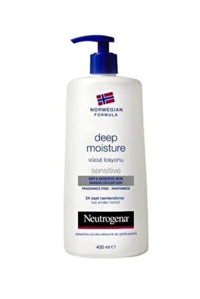 Hassas Ciltler İçin Parfümsüz Vücut Losyonu  - Deep Moisture 400 ml 3574661018201