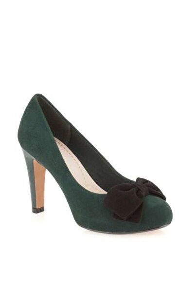CLARKS Kadın Yeşil Carrıck Tumble Topuklu Ayakkabı