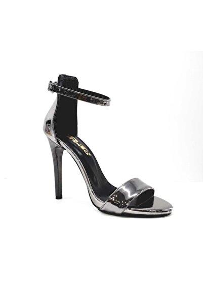 PUNTO Kadın Gri İnce Topuklu Kadın Ayakkabı 448009z