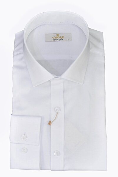 Erkek Beyaz Pamuklu Gömlek