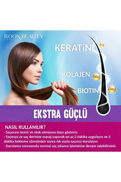 Keratin - Biotin ve Kolajen Destekli Saç Maskesi - Hızlı Saç Uzatmak için Bakım Kremi 300 ML