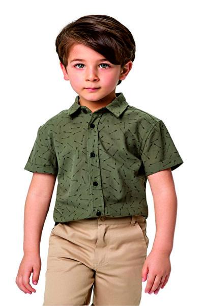 Wonder Kıds Wonder Kids Haki Erkek Çocuk Gömlek
