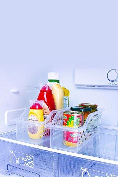 Tedarikcenter Düzenleyici Sepet Buzdolabı Sepeti 4 lü Set - Şeffaf