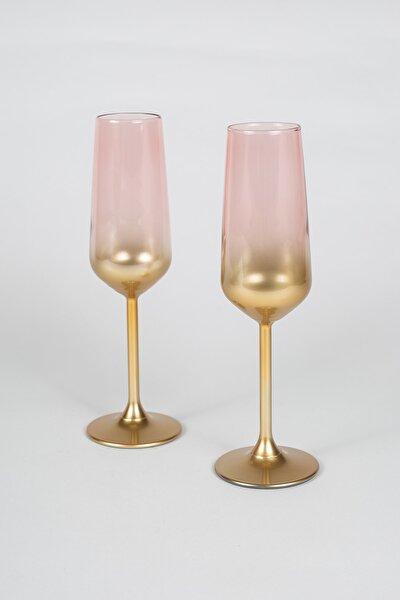 Rakle Glow 2'li Şampanya Kadehi Seti Pembe 195 cc