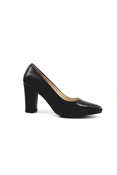 PUNTO Kadın Siyah Kalın Topuk Klasik Ayakkabı 462003z
