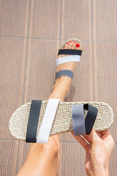 Fox Shoes Siyah/beyaz Kadın Sandalet H306036104