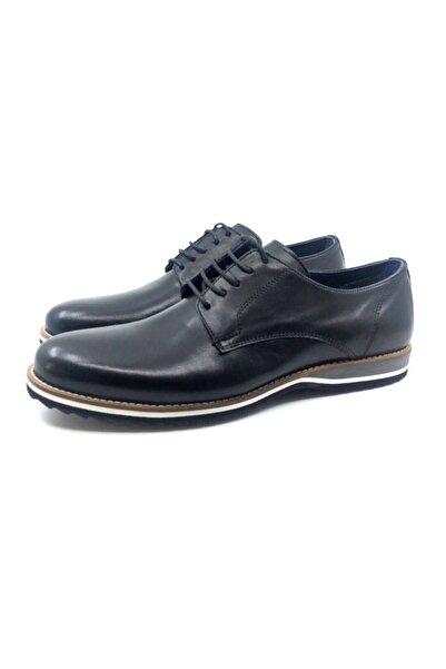 TETRİ Erkek Lacivert Hakiki Deri Eva Taban Klasik Ayakkabı