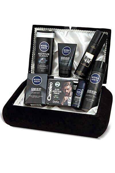 Nivea Exclusive Erkek Cilt Bakım Seti - Damat Çeyiz Sandık Seti + Luxury Prestige Parfüm Deosprey 200 Ml