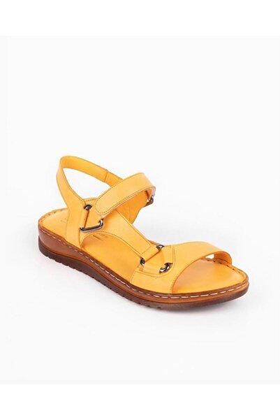 Bella Kadın Sarı Comfot Sandalet