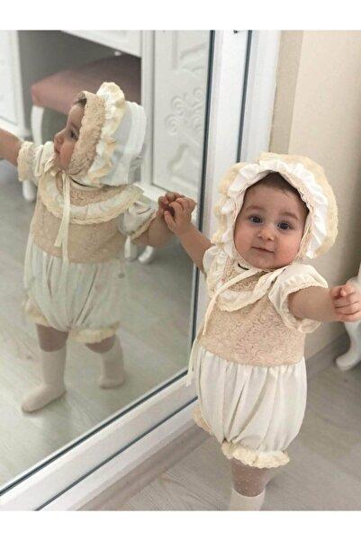 İpeqa Dantelli Bebek Tulumu Ve Şapkası