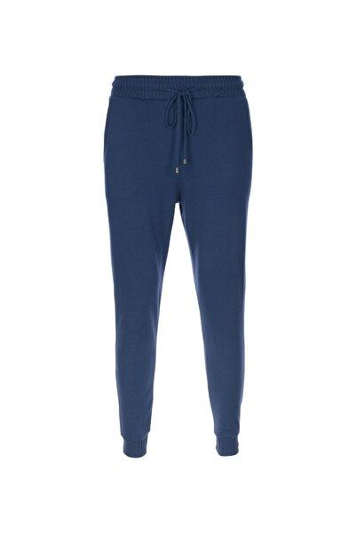 STAMINA Kadın Lacivert Bağcıklı Lastikli Cepli Pantolon