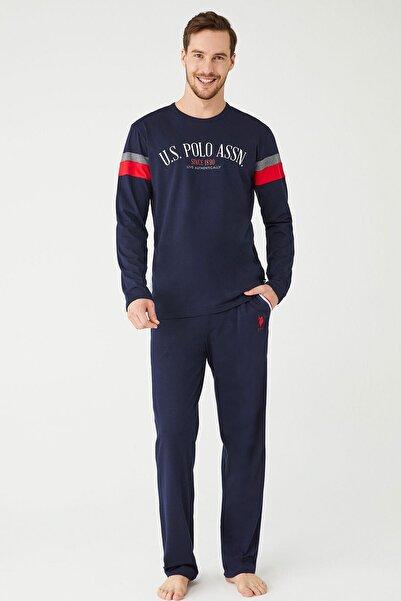 U.S. Polo Assn. U.s. Polo Erkek LacivertYuvarlak Yaka Pijama Takımı Uspa18364