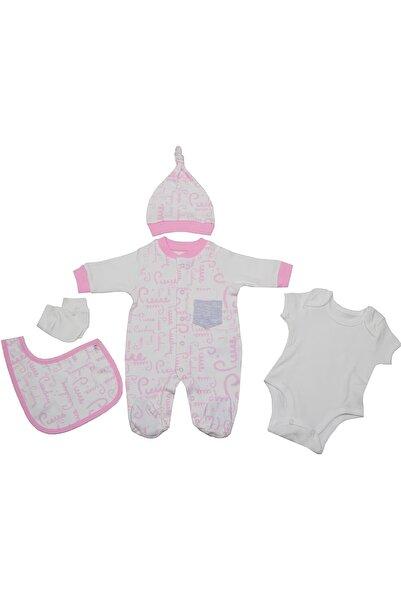 Pierre Cardin Baby Pierre Cardin Büyük Yazılı Cepli Yenidoğan Tulumlu Bebek Seti Pembe