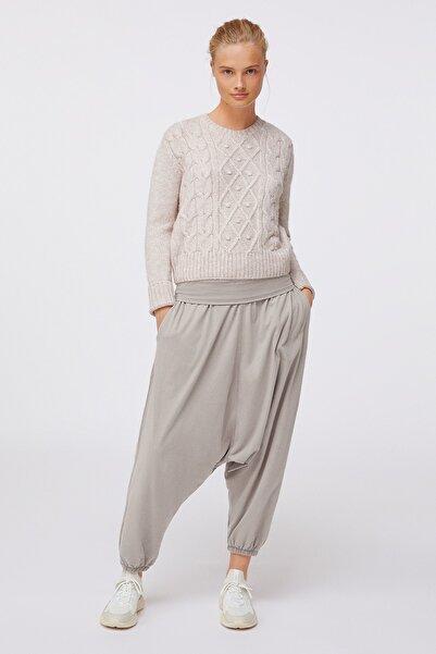 Oysho Kadın Bej %100 Organik Pamuklu Harem Pantolon