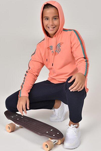 bilcee Unisex Çocuk Turuncu Sweatshirt FW-1513