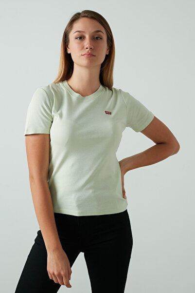 Levi's Kadın Yeşil Bisiklet Yaka T Shirt 37697