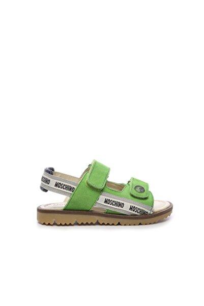 Moschino Unisex Yeşil Suni Deri  Sandalet