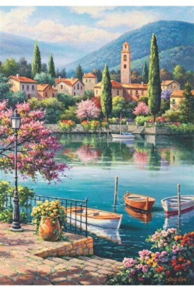 Anatolıan Gölde Akşamüstü Village Lake Afternoon 500 Parça Puzzle - Yapboz