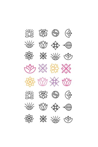 New Obsessions Çiçek Tırnak Dövmesi