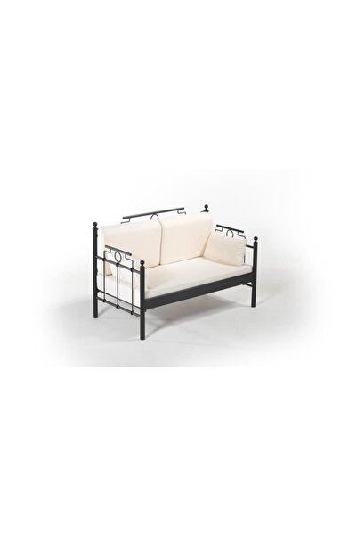 Vivense Hatkus Dk Metal Sofa Sedir Siyah 70x140cm