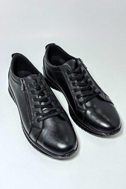 Masters Erkek Siyah Hakiki Deri Klasik Ayakkabı