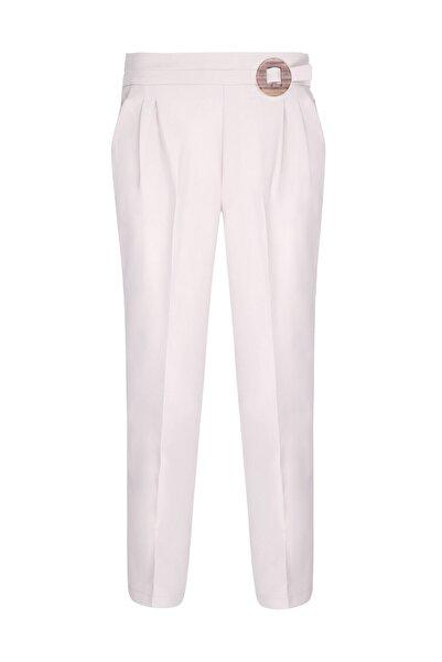 Oblavion Kadın Taş Rengi Beli Lastikli Pantolon