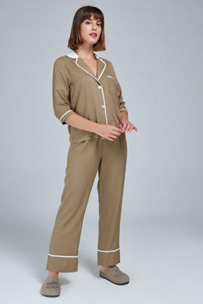 Appleline Kadın Haki Pijama Takımı