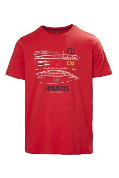 Musto Erkek Kırmızı Flyıng Dutchman Tee T-shirt