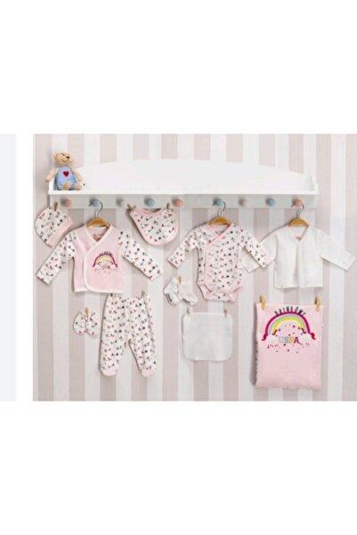 U.S. Polo Assn. Kids U.s.polo.assn Kız Bebek Toz Somon Unicorn Tema 10'lu Hastane Çıkış Seti