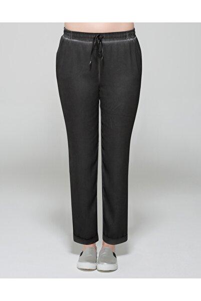 GEBE Kadın Gri Büyük Beden Pantolon