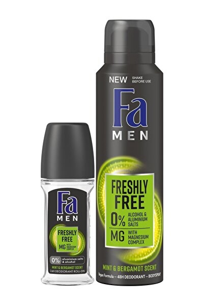 Fa Freshly Free Nane & Bergamot Deosprey 150 Ml +roll-on 50 Ml