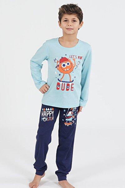 VİENETTA Pamuklu Erkek Çocuk Uzun Kol Pijama Takım